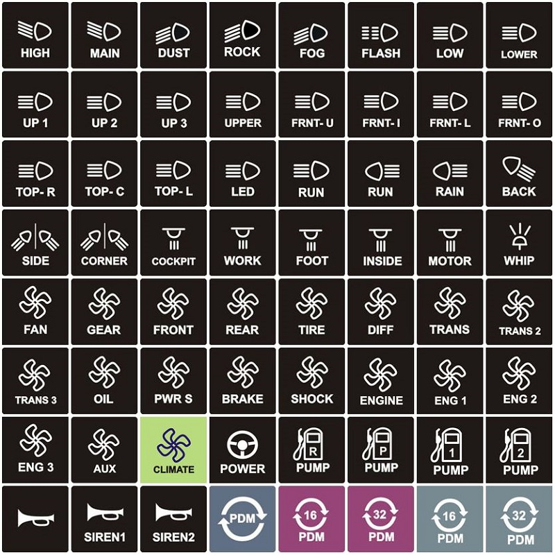motec individual keypad label fischer motorsports Cable Specialties Wiring Diagram for Sr20 Swap
