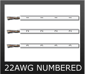 22AWG WHITE NUMBERED