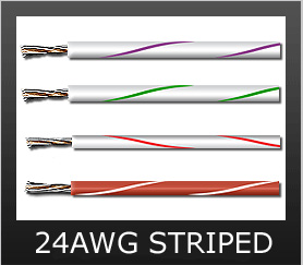 24AWG STRIPED COLORS