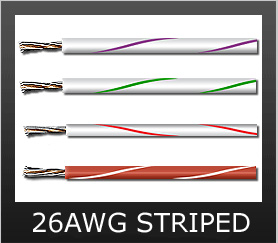 26AWG STRIPED COLORS
