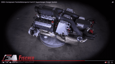 2000+ horsepower FischerMotorsports Ford GT Supercharger Charger System