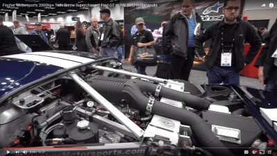 Fischer Motorsports 2000hp+ Twin Screw Supercharged Ford GT at PRI 2017 Indianapolis